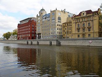 Vodootvodny Canal - Golutvin Sloboda offices, converted 19th century factories across the Canal