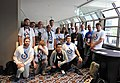 Wikimania photographers in Commons shirts Sheraton 4th Fl jeh.jpg