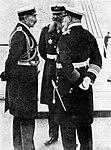 Wilhelm II, Alfred von Tirpitz and Henning von Holtzendorff at the Kiel Week, 1910.jpg