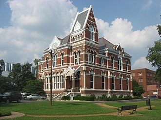 Willard Library - Front and southern side of the library
