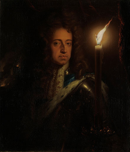 William III painted in the 1690s by Godfried Schalcken Willem III, prins van Oranje, koning van Engeland en stadhouder Rijksmuseum SK-A-367.jpeg