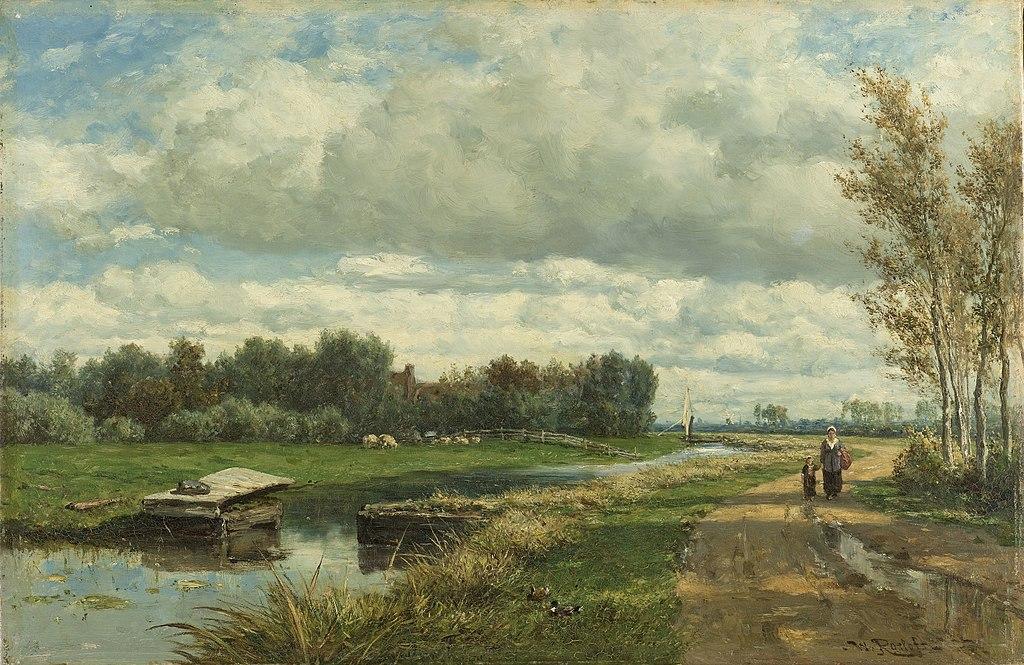 File Willem Roelofs Landschap In De Omgeving Van Den