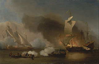 An Action off the Barbary Coast with Galleys and English Ship
