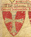 WilliamDeForz 4thEarlOfAlbemarle Died1260 Arms MatthewParis BookOfAdditions 1250.png