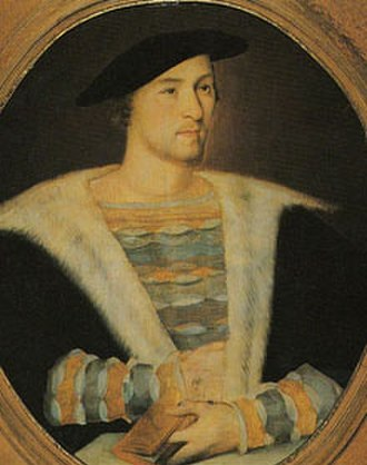 William Carey (courtier) - William Carey, attributed to Hans Holbein the Younger.  From a private Irish collection.