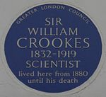 William Crookes 7 Kensington Park Gardens blue plaque.jpg
