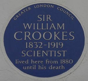 William Crookes - Blue plaque, 7 Kensington Park Gardens, London