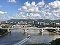 William Jolly Bridge and Milton seen from level 10 of North Quay building, Brisbane.jpg