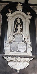 Large wall-mounted marble memorial