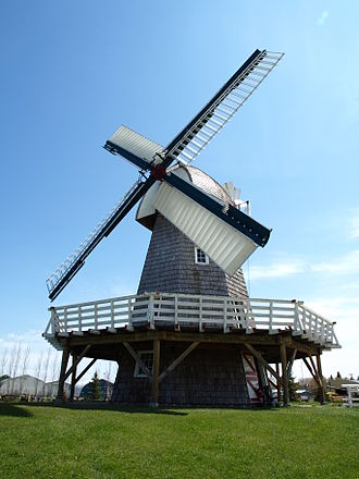 Steinbach, Manitoba - The current windmill at the Mennonite Heritage Village in Steinbach