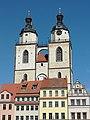 Wittenberg - Marktplatz, Türme der Stadtkirche.jpg