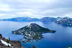 Crater Lake - Wizard Island in Crater Lake National Park