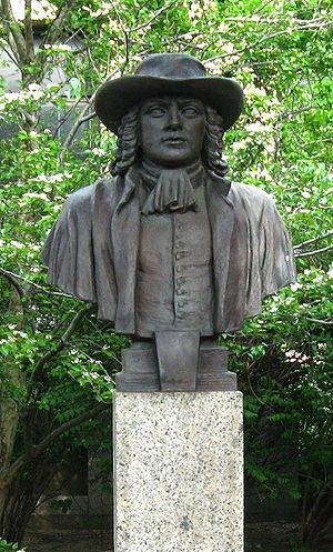 Bust of William Penn in Hall of Fame for Great...