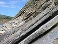 Worbarrow Tout, Shoreline rocks - geograph.org.uk - 1408064.jpg