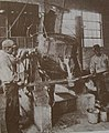 Workers casting Stellite at the Haynes Stellite Company, 10 October 1918.jpg