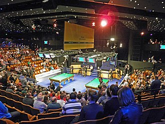 2013 World Snooker Championship - Interior of the Crucible Theatre before the third session of the first day