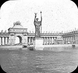 Edward Clark Potter - Image: Worlds Columbian Exposition Statue of the Republic, Chicago, United States, 1893. (2785068208)