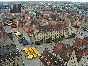 Market Square, Wrocław - Wrocław Market Square in 2005, view from the tower of St. Elisabeth's Church