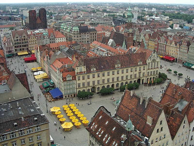 Rynek we Wrocławiu, mercato generale, Breslavia (http://en.wikipedia.org/wiki/Market_Square)