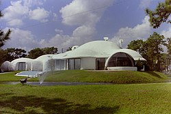 Exterior of the Xanadu House in Kissimmee, Florida in 1990.
