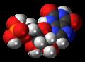 Xanthosine monophosphate molecule spacefill.png
