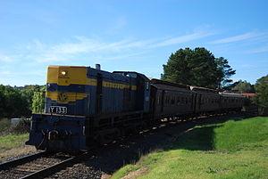 Victorian Railways Y class (diesel) - Preserved Seymour Railway Heritage Centre Y133 in July 2009