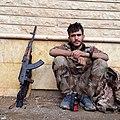 YPG fighter resting (Afrin January 2018).jpg