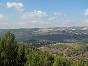 View of Jerusalem at the exit of Yad Vashem's Holocaust History Museum.