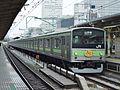 Yamanote Line 205 series set 33 AD Train Tokyo Station 20030202.JPG