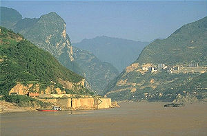 Three Gorges - Image: Yangtze In Three Gorges