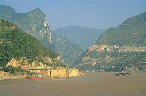 Yangtzé na região das Três Gargantas