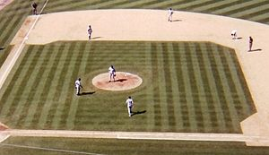 2001 New York Yankees season - Image: Yankees vs. Angels 2001 (Yankees crop)