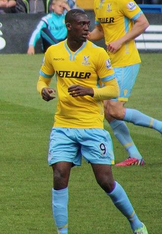 Yaya Sanogo - Sanogo playing for Crystal Palace in 2015