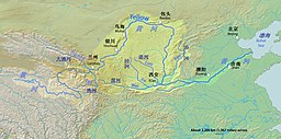 黃河嘅河路同主要都市