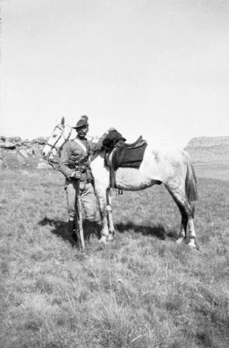 British yeomanry during the First World War - British yeomanry soldier South Africa 1899
