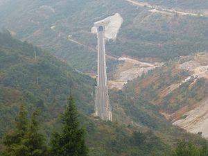 Kunming–Yuxi–Hekou Railway - Entrance to Xiaoxingzhai Tunnel, between Yuxi and Tonghai