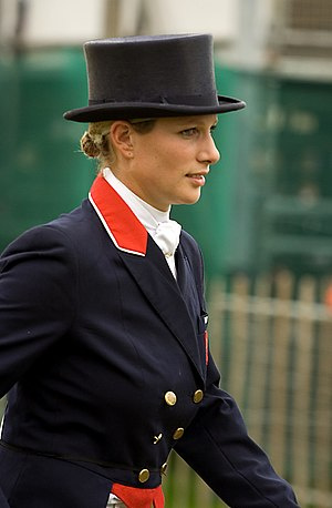 Zara Tindall - At Burghley Horse Trials in 2007