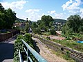 Zbraslav, Závist, železniční přejezd, most Závodu míru.jpg