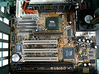 Apollo VP3 - Zida Tomato 5DLX motherboard with VIA VP3 chipset (512 KB SRAM, 2 DIMM-s, 2 SIMM-s, 1 AGP, 3 PCI, 2 ISA )