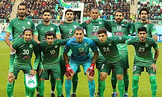Zob Ahan Esfahan F.C. - Zob Ahan team image before AFC Champions League match, 13 March 2017