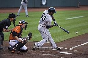 Zoilo Almonte - New York Yankees at Baltimore Orioles June 29, 2013 - 2.jpg