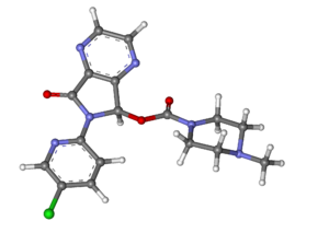 Zopiclone - Image: Zopiclone ball and stick