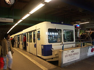 Lausanne-Flon station - Rack train of the Ouchy line (2004)