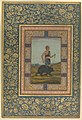 """Dervish Leading a Bear"", Folio from the Shah Jahan Album MET DP247742.jpg"