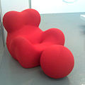 """ 09 - ITALY - TDM - Red armchair - Serie UP (UP5 and UP6) Gaetano Pesce chairs and B&B Italia at Triennale Design Museum.jpg"