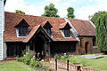 'Church of St Andrew' Greensted, Ongar, Essex England - nave and south porch.JPG