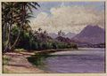 'Kaneohe Bay, Oahu' by Carrie Helen Thomas Dranga, oil on board.JPG
