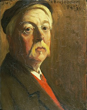 Jacobus van Looy - With a Dresden-style Capself-portrait