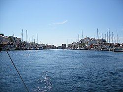 A view of Åstol harbor