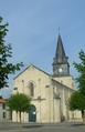 Église Saint-Romain de Curzon (vue 1 de la place de la Mairie).png
